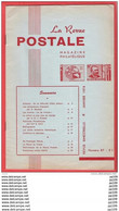 LA Revue Postale Magazine Philatélique  Bimestriel N° 87  En 1974 - Französisch (ab 1941)