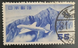 Used Stamps Japan Airmail - Airmail - Douglas DC-4 Airplane And Mount Tate, Without Underlined Zeros-1952 - Used Stamps