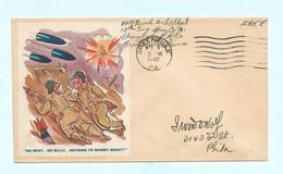 Lettre 1943 Illustrée Greenville En Franchise - Covers & Documents