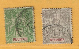 Timbre Réunion N° 46 - 48 - Used Stamps