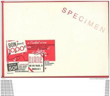 PUBLIBEL Specimen  - Sans Timbre   - N° 2281 FN Bon De 50 F à L'achat Cuisinière... RUE Des PALAIS 26 à SCHAERBEEK - Publibels