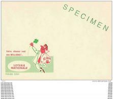 Publibel SPECIMEN - Sans Timbre - 2279 F  : NATIONALE LOTERIJ - LOTERIE NATIONALE Trèfle à Quatre Feuilles - Publibels