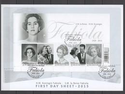 2015 Koningin Fabiola  FIRST DAY SHEET BL223FDS C102 - 2011-...