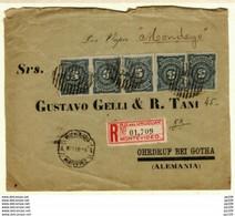 URUGUAY L Recommendadas  Registrada Obl MONTEVIDEO 16 V 1894  Vers Allemagne OHRDRUF Por Vapor MONDEGO - Uruguay