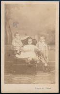 Cca 1865 Három Testvér, Keményhátú Fotó Bayer és Weber Pécsi Műterméből, 10,5×6,5 Cm - Non Classés
