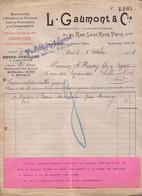 PARIS - MANUFACTURE D'APPAREILS DE PRECISION POUR LA PHOTOGRAPHIE & LA CINEMATOGRAPHIE - L. GAUMONT  1908 - 1900 – 1949