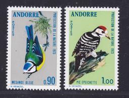 ANDORRE N°  232 & 233 ** MNH Neufs Sans Charnière, TB (D9574) Oiseaux - 1973 - Unused Stamps
