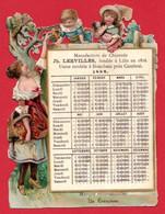 Chicorée Lerville, Usine à Bouchain. Découpis Calendrier 1889. - Zonder Classificatie