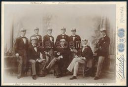 1893 Betegszállító Mentők A Kolerajárvány Idején, Nevesítve, Keményhátú Fotó Dunky Fivérek Kolozsvári Műterméből, 16,5×1 - Non Classés