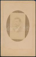 Cca 1900 Férfiportré, Keményhátú Fotó Stern József (Rohonc/Tarcsán) Műterméből, 10,5×6,5 Cm - Non Classés