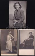 Cca 1920-1960 Divatos Hölgyek, 5 Db Fotó, Némelyik Felületén Törésnyom, 13×8 és 17×8,5 Cm Közötti Méretekben - Non Classés