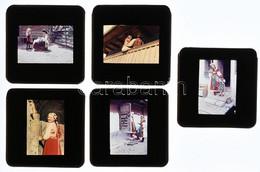 Cca 1940-1950 Erdélyi Népviseletek, életképek, 5 Db Keretezett Agfacolor Diapozitív, 3,5×2,5 Cm - Non Classés