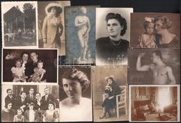 Cca 1900-1940 30 Db Régi Fotólap (nagyrészt Portré), Közte Feliratozottak, Változó állapotban, 14x9 Cm Körüli Méretben - Non Classés