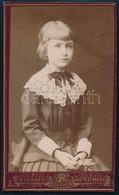 Cca 1880-1900 Kislány Portréja, Keményhátú Fotó Richard Jastrzembski Tescheni (Cieszyn) Műterméből, 10x6 Cm - Non Classés