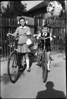 Gyerekek Kerékpárral, Fotónegatív, 9×6 Cm - Non Classés