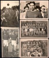 Cca 1920 Egy Focista Emlékalbumából 5 Db Jelzés Nélküli Vintage Fotó, Két Fotón Katonák Is Szerepelnek, Az Egyik Fotó Fe - Non Classés