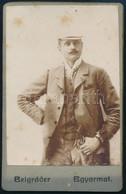 Cca 1910 Fiatal Férfi Portréja, Keményhátú Fotó Belgráder Balassagyarmati Műterméből, Foltos, 10,5×6,5 Cm - Non Classés