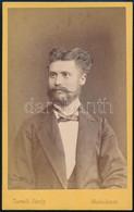 Cca 1880 Férfiportré, Keményhátú Fotó Zureich Károly Miskolci Műterméből, 10,5×6,5 Cm - Non Classés
