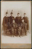 Cca 1900 Fiúk Díszruhában, Keményhátú Fotó Czernil Esztergomi Műterméből, 16,5×10,5 Cm - Non Classés