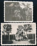 1933 Hajmáskéri életképek, 2 Db Fotó, Hátoldalon Feliratozva, 4,5×6 Cm - Non Classés