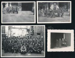 Cca 1940 Tűzoltófotók, 4 Db, 6×6, 6×9 és 9×12 Cm-es Méretben - Non Classés
