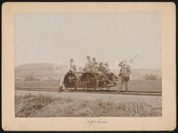 Cca 1900 MÁV Hajtány, Keményhátú Fotó 12×16 Cm - Non Classés