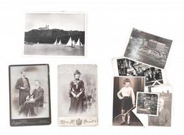 Cca 1890-1940 Vegyes Fotó Tétel, Közte Csibeetetés, Kaszap István, Teniszütős Kislány, Harangavatás, Tihany, Keményhátú  - Non Classés