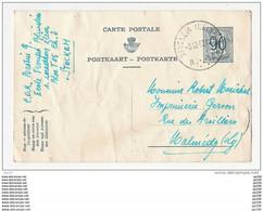 Entier Postal Trilingue  Envoyé De STOCKEM Ecole Des Troupes Blindées 3 XII 1952 Vers Malmédy  - Froissé - Eupen & Malmédy