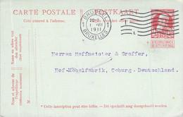 10 Centimes GS Brüssel - Coburg 1911 - Postkaarten [1909-34]