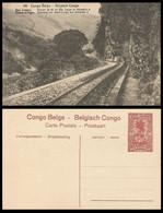 CP/PK 10c - 49 - Chemin De Fer Du Bas Congo  / Spoorweg Van Neder-Congo - Stamped Stationery