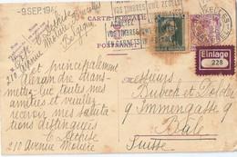 BELGIQUE Etiquette Sur Entier Postal EINLAGE - Postkaarten [1934-51]