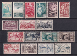 1950 - MAROC - ANNEE COMPLETE Avec POSTE AERIENNE - YVERT N°288/297 + PA 74/80 ** MNH - COTE 2022 = 40.75 EUR. - Unused Stamps