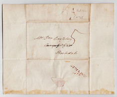1821 Letter From J Philips, Bank Hall, Stockport Regarding A Missing Rochdale Canal Dividend.  1044 - Autographes