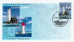 New Caledonia - 2021 - Lighthouse Tabou - FDC - Phares