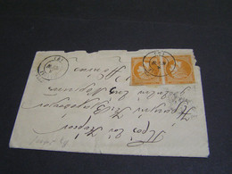 GREECE 1880-1886  10 Lep Orange Pair 2 Cover .. - Covers & Documents