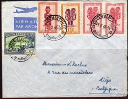 287+285+280+296 Sur Pli - CONGO - 1947-60: Lettres