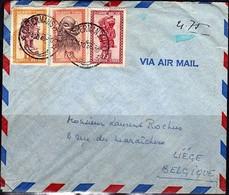 285+293 Sur Pli - CONGO - 1947-60: Lettres