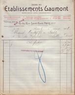 PARIS - SOCIETE DES ETABLISSEMENTS GAUMONT , PHOTOGRAPHIE & CINEMATOGRAPHIE - RELEVE - 1908 - 1900 – 1949