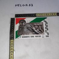 FB11431 PIACENZA 1983 TIMBRO ANNULLO CENTENARIO 2'' REGGIMENTO GENIO PONTIERI - 1981-90: Storia Postale