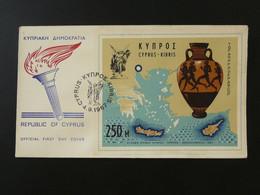 FDC Bloc Jeux Athlétiques 1967 Athletic Games Chypre Cyprus Ref 101484 - Covers & Documents