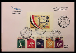 Syria, Syrie, Syrien ,2016, Rare: Rio Olympic FDC, With Block Not Listed In SG. Very Rare , Only 25 Exist - Syria