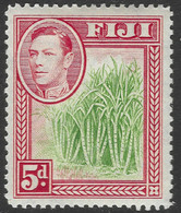 Fiji. 1938-55 KGVI. 5d Green And Red MH. SG 259 - Fiji (...-1970)