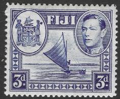 Fiji. 1938-55 KGVI. 3d MH. SG 257 - Fiji (...-1970)