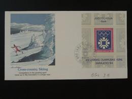 FDC Bloc Jeux Olympiques Sarajevo 1984 Olympic Games Yugoslavia Ref 101498 - Invierno 1984: Sarajevo