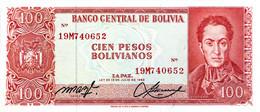 Bolivia 100 Pesos Bolivianos, P-164A (L.1962) - UNC - Signature Variety - Bolivia