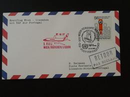 Lettre Premier Vol First Flight Cover Wien UNO --> Lisbon TAP Air Portugal 1987 Ref 101507 - Briefe U. Dokumente