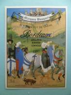 Etiquette Vin Marquis Bouquet BORDEAUX Gironde à LANDERROUAT - Bordeaux