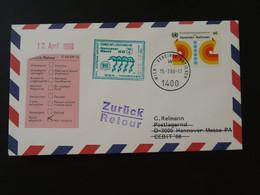 Lettre Premier Vol First Flight Cover Wien UNO --> Hannover Messe AUA Austrian Airlines 1988 Ref 101509 - Briefe U. Dokumente
