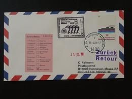 Lettre Premier Vol First Flight Cover Wien UNO --> Hannover Messe AUA Austrian Airlines 1988 Ref 101511 - Briefe U. Dokumente