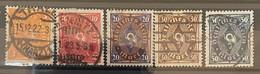 Duitse Rijk Zegel Nrs 205 - 209'used - Oblitérés